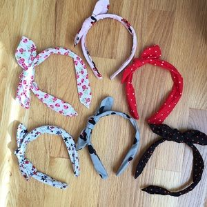 Accessories - Bundle of 6 knot bow fabric headbands